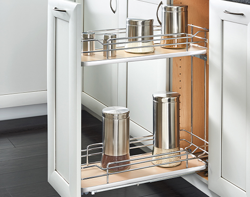 base cabinet organizer solutions