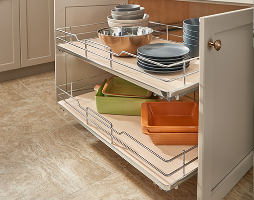 base cabinet pullout shelves solutions