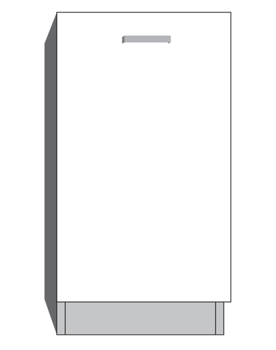 diagram of a full height cabinet