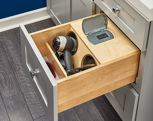 bathroom and vanity cabinet drawer solutions