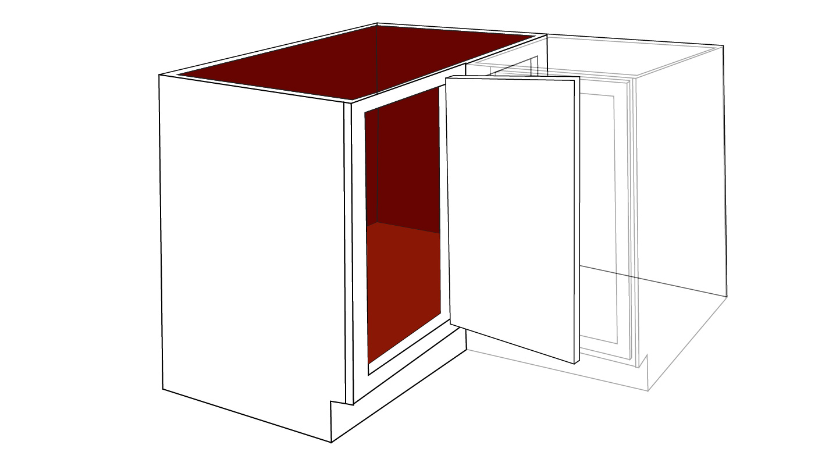 diagram of a left side blind corner