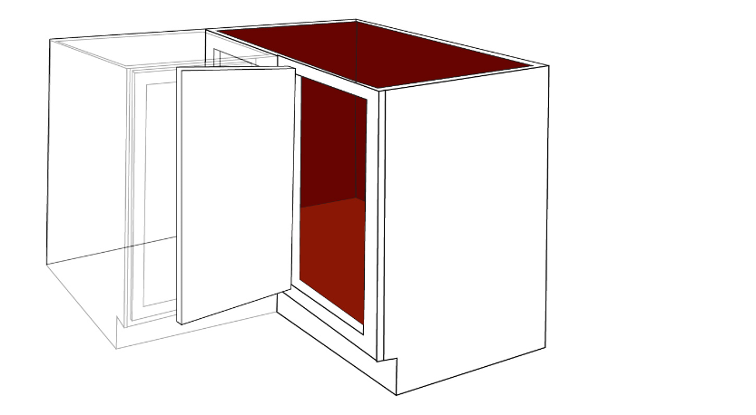 diagram of a right side blind corner