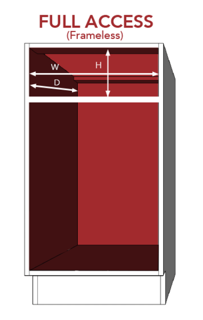 diagram of a frameless cabinet