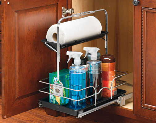image of a solution that mounts to a cabinet floor