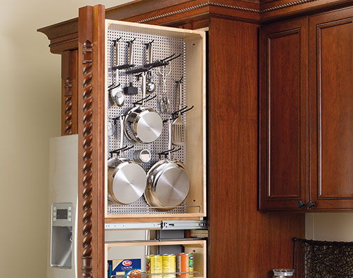 image of a solution that mounts between cabinets
