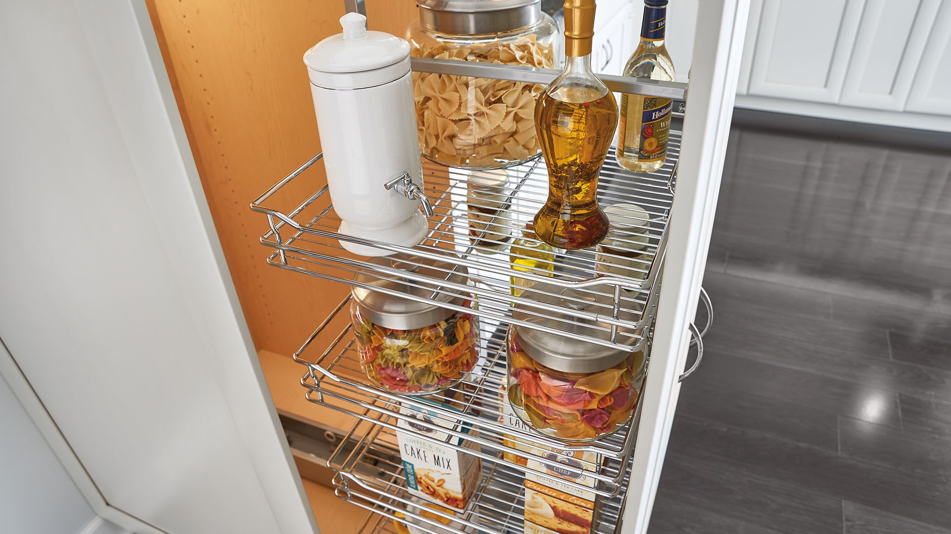 image of tall cabinet and pantry cabinet accessory solutions