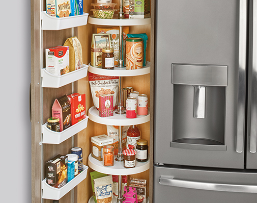 tall or pantry cabinet lazy susan solutions