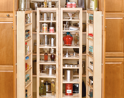 tall or pantry cabinet swing out solutions
