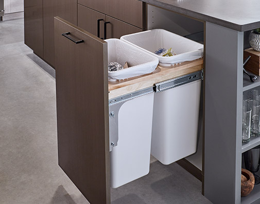 image of s solution that mounts to the cabinet door, rear and side walls