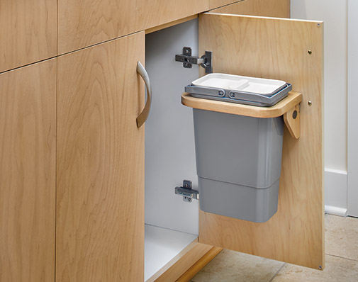 image of a solution that mounts to the cabinet door