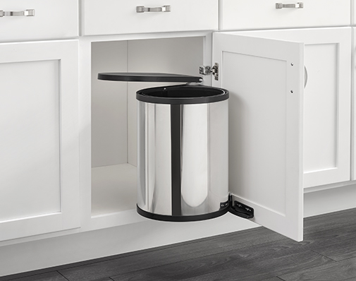 Stainless Steel finish waste container solutions