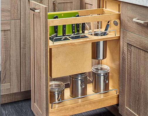 base cabinet knife and utensil organizer solutions