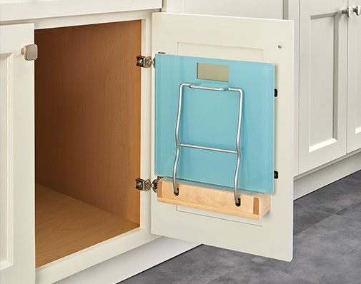 bathroom and vanity cabinet door storage solutions