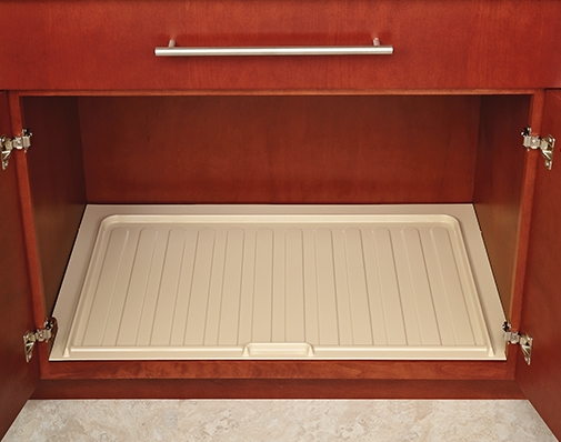 bathroom and vanity cabinet drip trays solutions