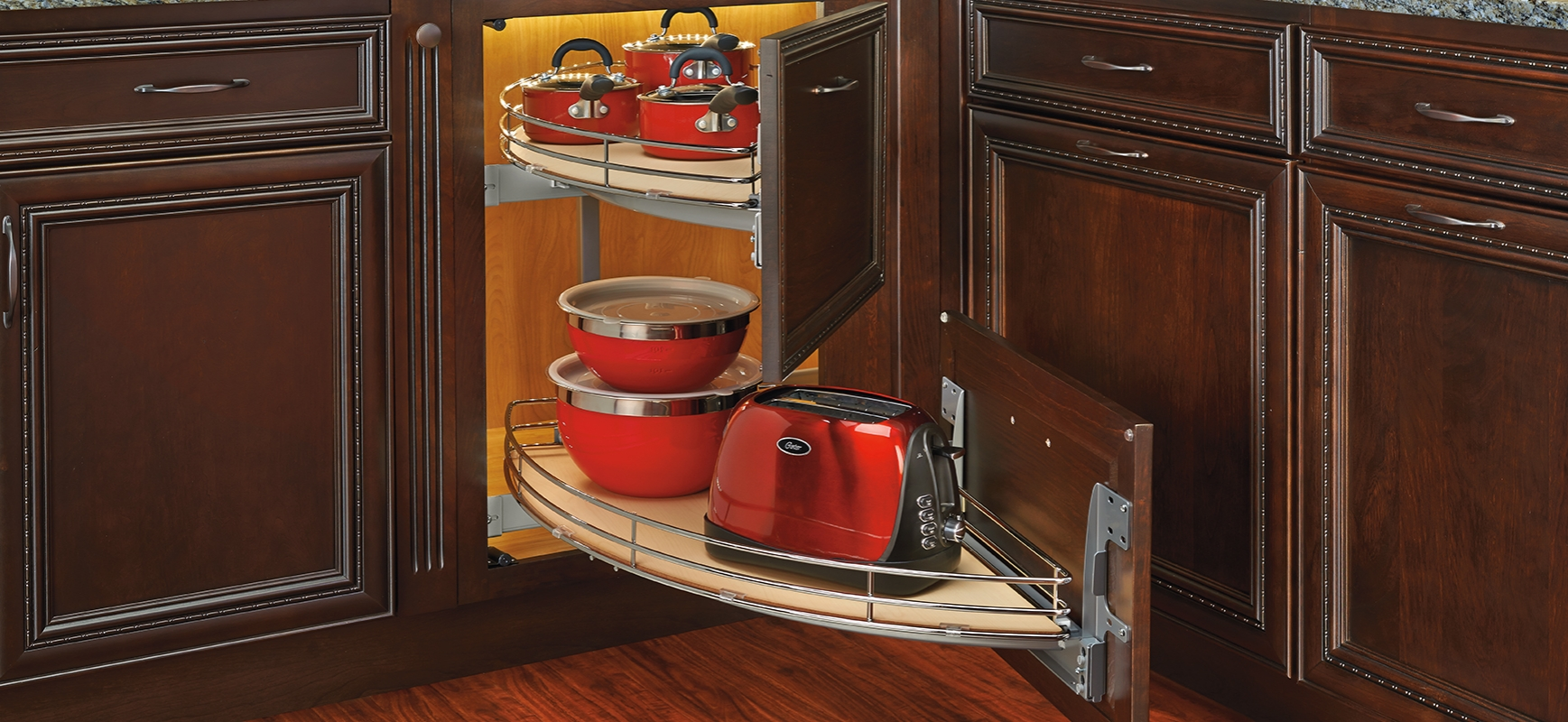 image of blind corner cabinet accessory applications