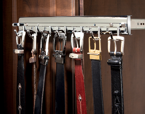 closet belt and scarf rack solutions
