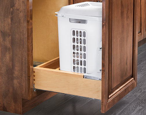 image of a solution that mounts to the cabinet floor
