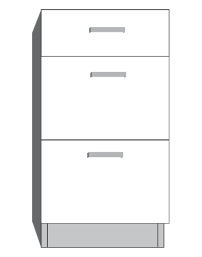 diagram of a drawer bank cabinet