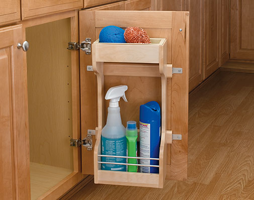 image of a solution that mounts to a cabinet door
