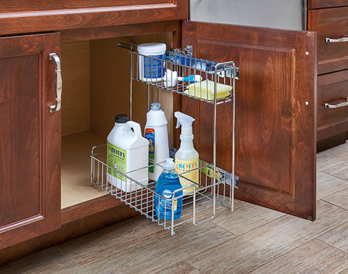 image of a solution that mounts to cabinet side walls