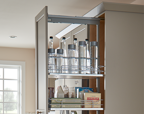 image of a solution that mounts to the cabinet floor and ceiling