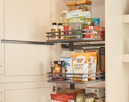 image of a solution that mounts to cabinet floor and side walls