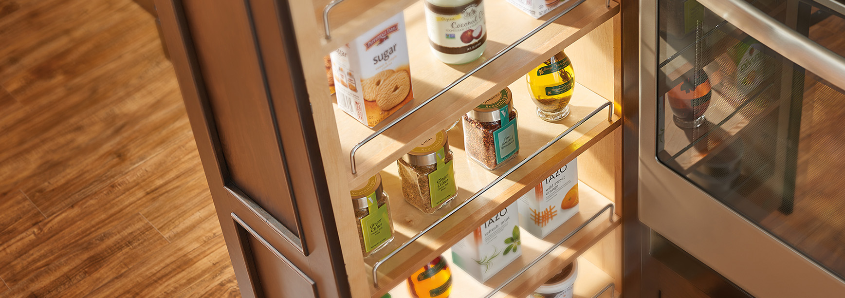 image of tall cabinet and pantry cabinet accessory applications