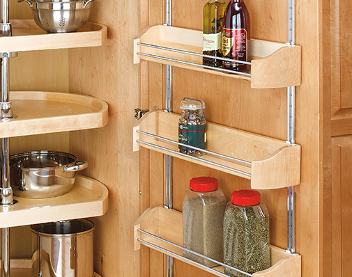 tall or pantry cabinet door storage solutions