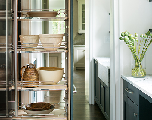 tall or pantry cabinet pullout solutions