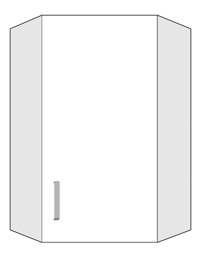 diagram of a corner cabinet
