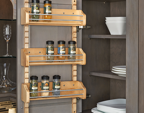 wall cabinet door storage solutions