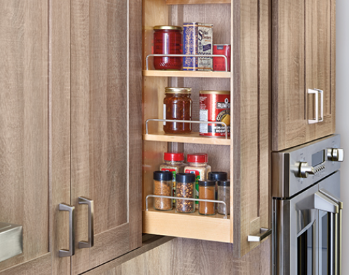 wall cabinet pullout solutions