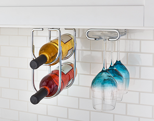 wall cabinet wine and stemware rack solutions